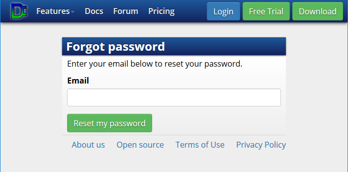 Forgot password