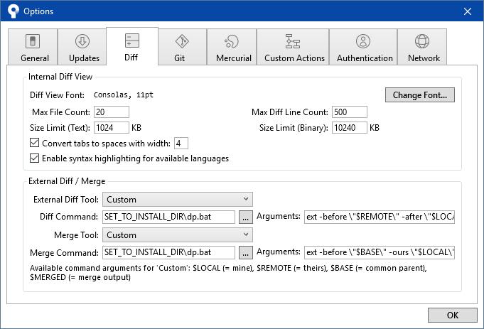 Command line (dp) | DiffPlug Docs