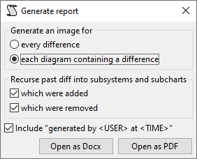 Generate report config