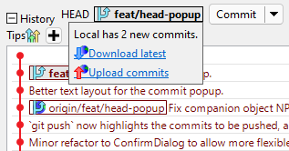 popup head panel on mouseover